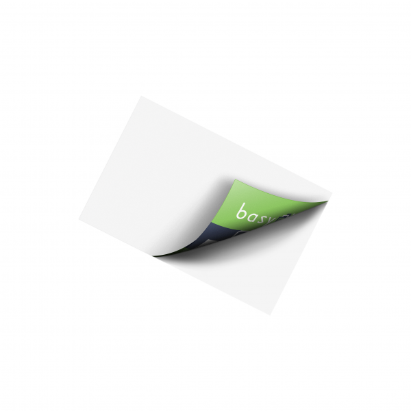 Beyazlı Ters Baskı Sticker (Cam Etiketi)